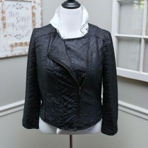 Kenneth Cole Reaction Zebra Moto Blazer Jacket M